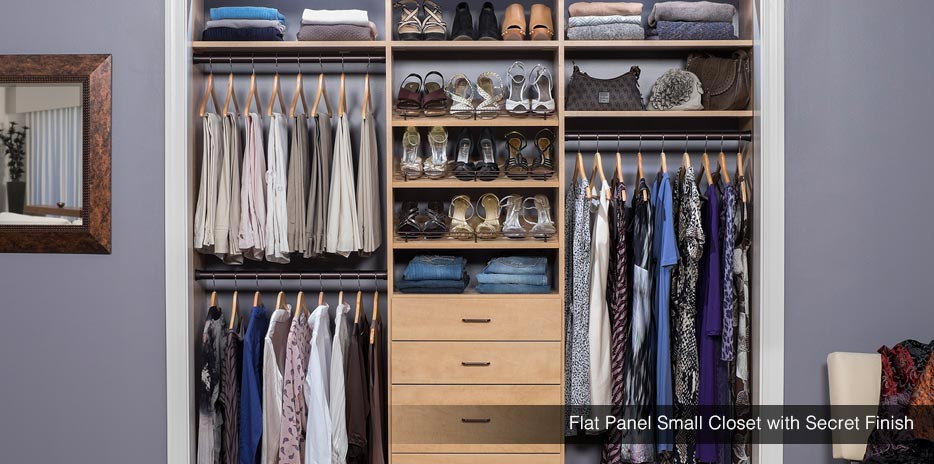 Small Closet Design Solutions | Reach In Closets | Boise, Nampa, Meridian