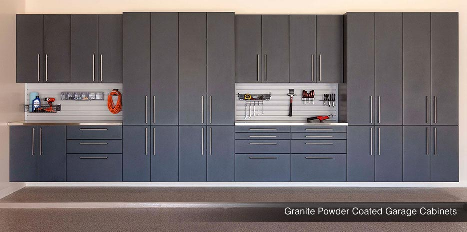 Granite Powder Coated Garage Cabinets