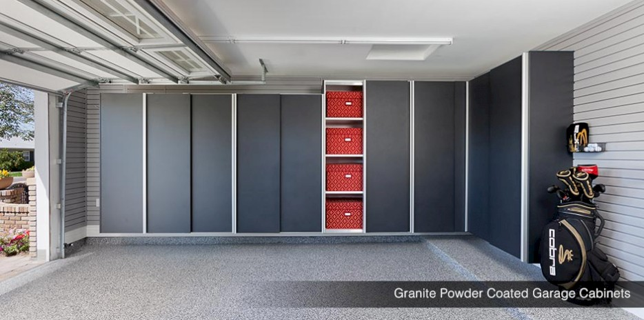 Granite Powder Coated Garage Cabinets - Eagle Idaho