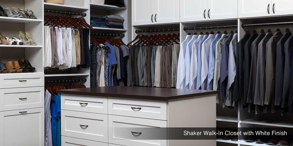 Shaker Walk-In Closet with White Finish - Treasure Valley Idaho