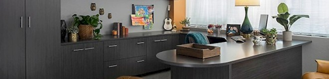 Custom Home Office Cabinet System